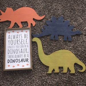 Four piece Dinosaur wall art🦖🦕🦖